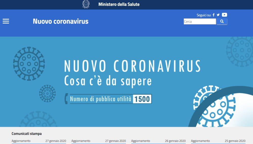 www.salute.gov.it/nuovocoronavirus
